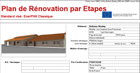 Le Plan de Rénovation par Etapes (PRE)